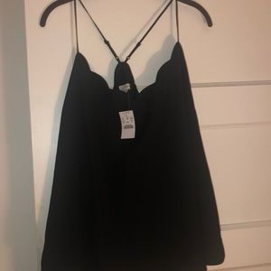 Black scalloped Jcrew camisole size 20